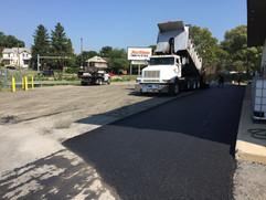 Laying down pavement