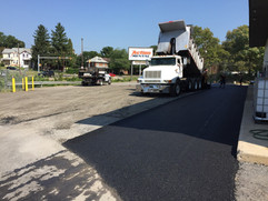 Laying down pavement