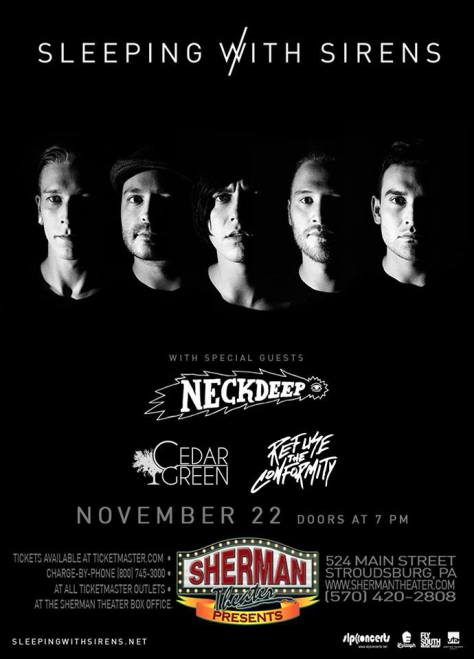Sleeping With Sirens Sherman Theater