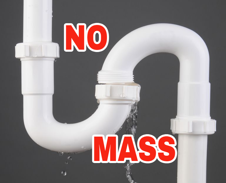 Closeup of a sink S Trap made of white PVC Plastic