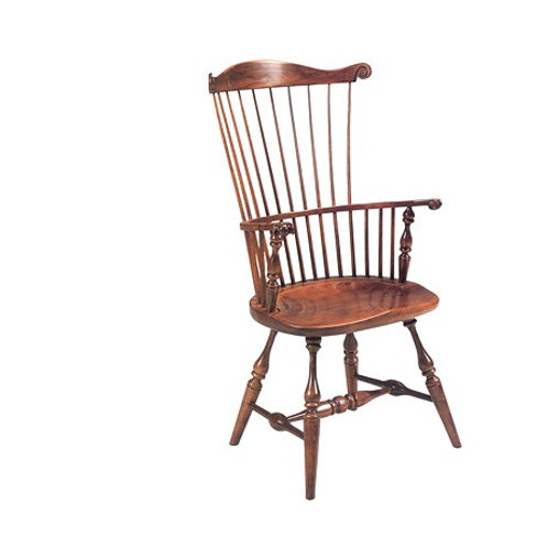 82H High Back Governor Arm Chair Knuckles