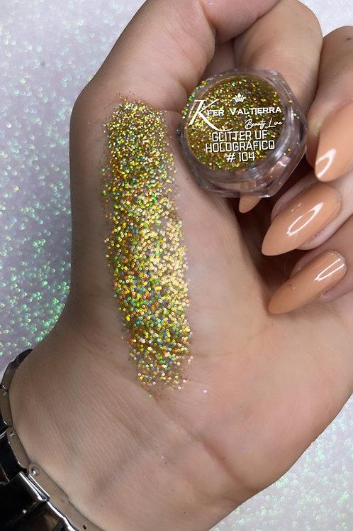 #104 Glitter UF Holografico (Dorado)