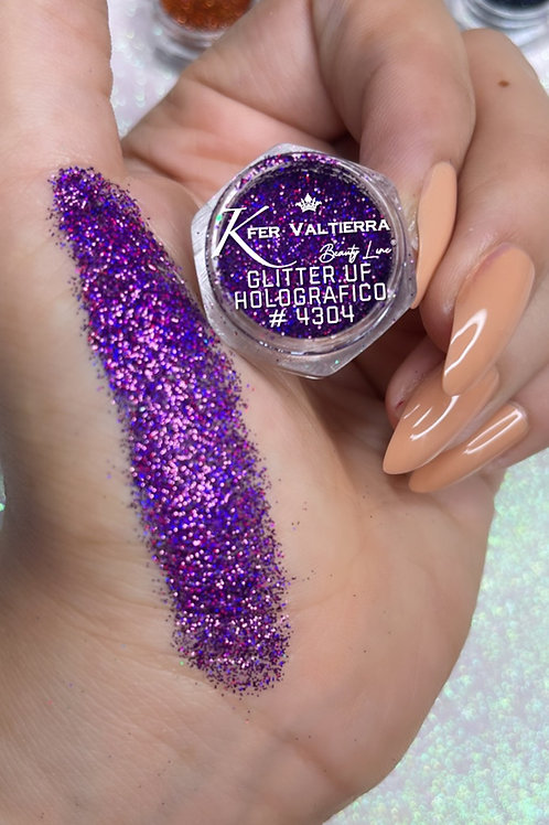 #4304 Glitter UF Holografico (morado)