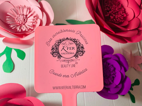 Espejo Pink Rosa Pastel12x22 cm