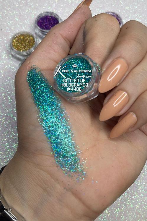 #4406 Glitter UF Holografico (azul claro)