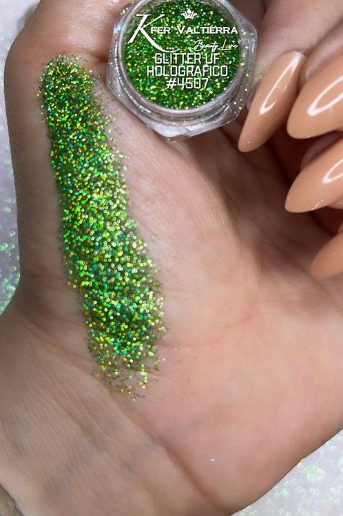 #4507 Glitter UF Holografico (verde claro)