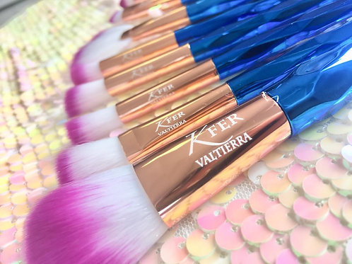 Blue pink brushes 20pc set