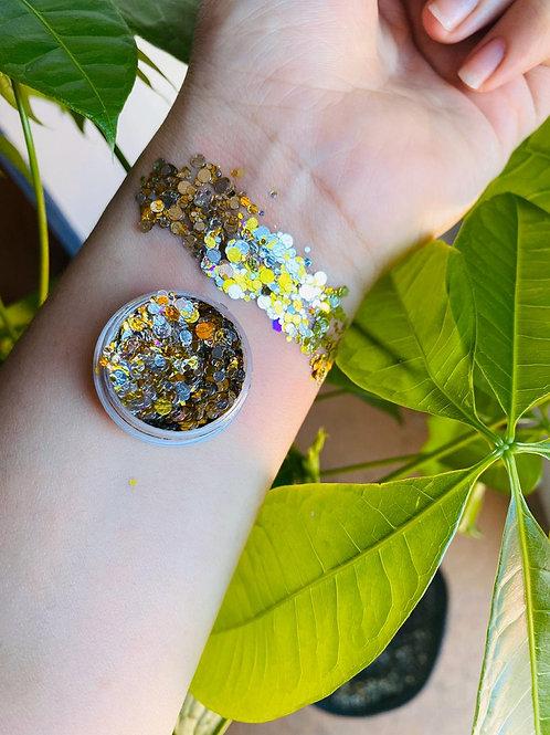 Chunky glitter / dorado plata