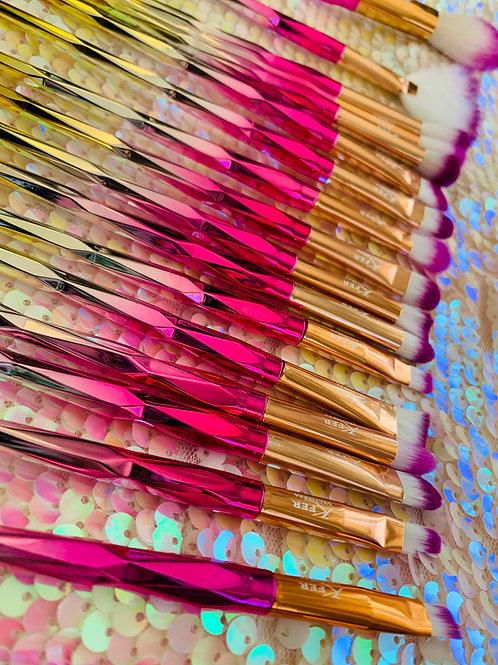 Golden/pink 20pc brush set