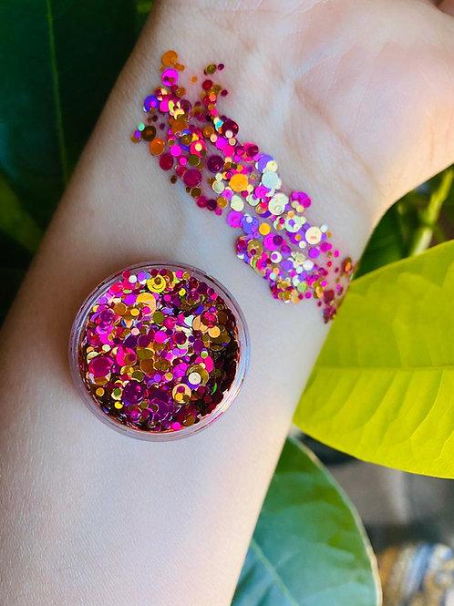 Chunky glitter /Rosa dorado