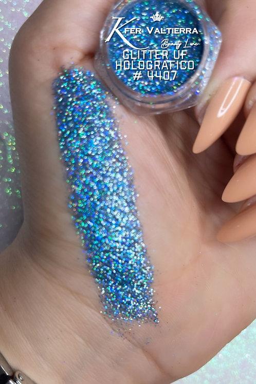 #4407 Glitter UF Holografico (azul)