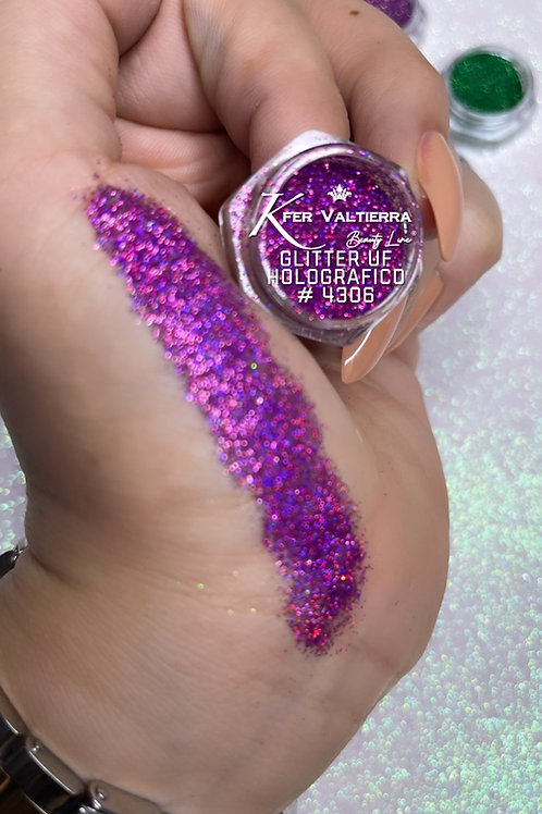 #4306 Glitter UF Holografico (Rosa Magenta)