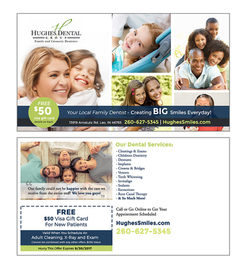 Hughes Dental Group Direct Mail Postcard
