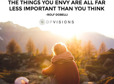 The things you envy are all far less important than you think