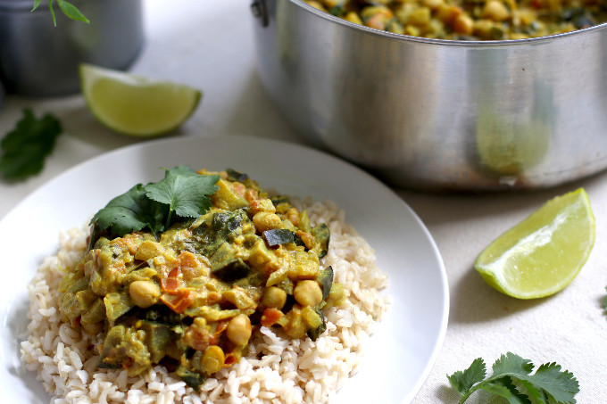 plant based chickpea curry