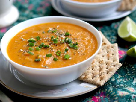 Vegan Carrot & Sweet Potato Soup
