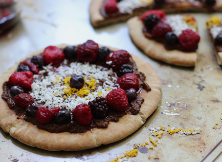 Chocolate Dessert Pizza (Vegan and Healthy)