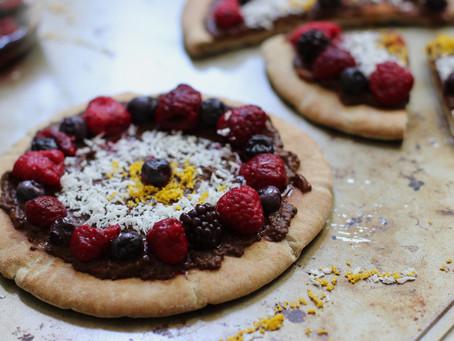 Chocolate Dessert Pizza (Vegan and Healthy)