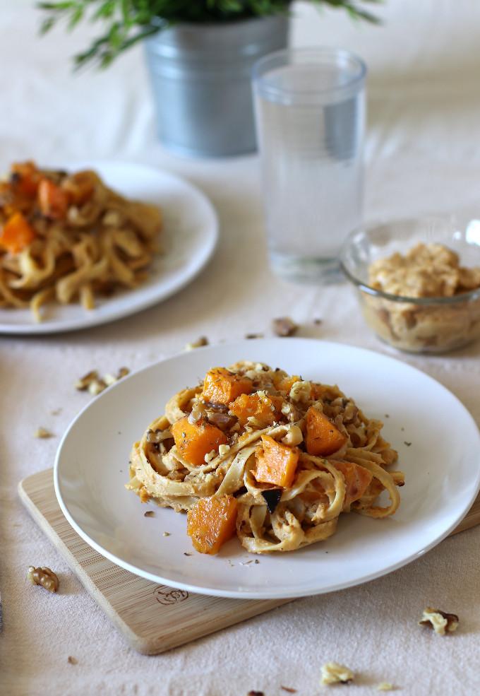 vegan squash pasta