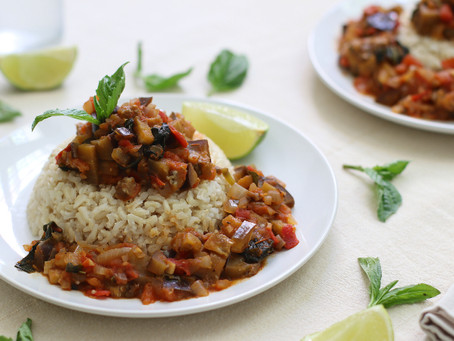 Eggplant and Tomato Stew | Healthy and Vegan