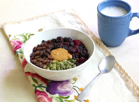 Mixed Berry Oatmeal Bowl > In Microwave
