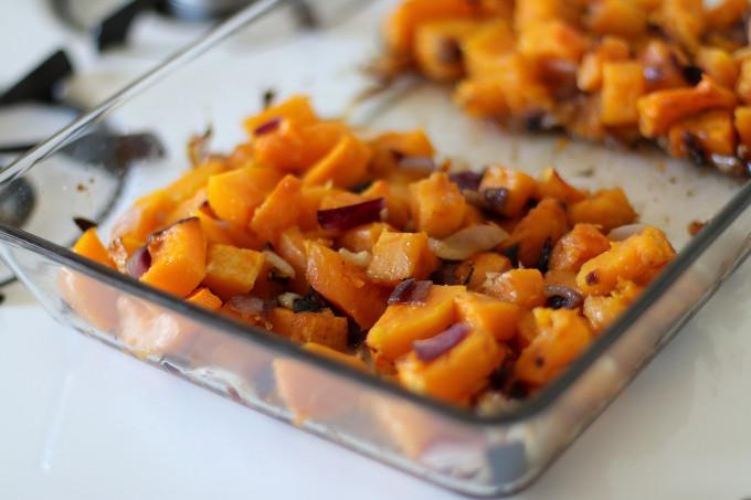 roasted squash pasta