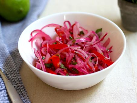 Red Onion Relish (Peruvian Salsa Criolla)