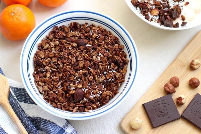 chocolate orange granola recipe