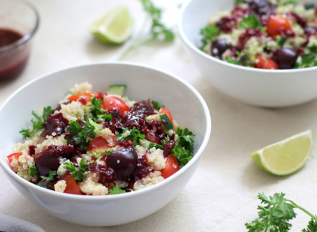 Cherry Quinoa Salad with Cherry Salad Dressing