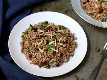 Wheat Berry Salad with Walnuts and Dried Cherries