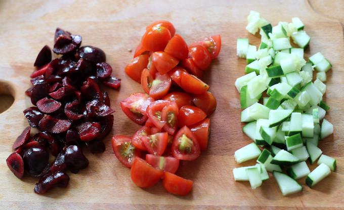cherry quinoa salad dressing