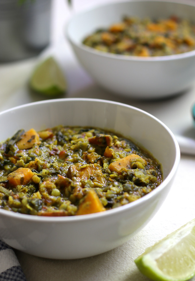 sweet potato red lentil curry
