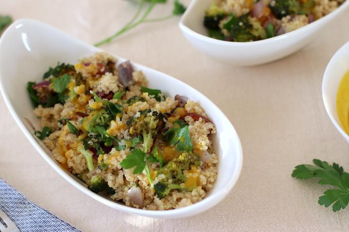 vegan broccoli quinoa salad recipe