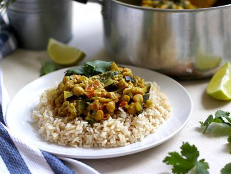 Easy Eggplant Chickpea Curry
