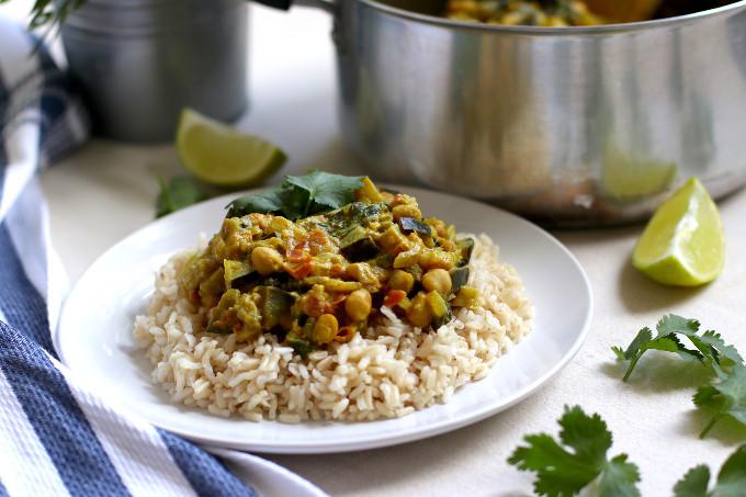 vegan eggplant chickpea curry
