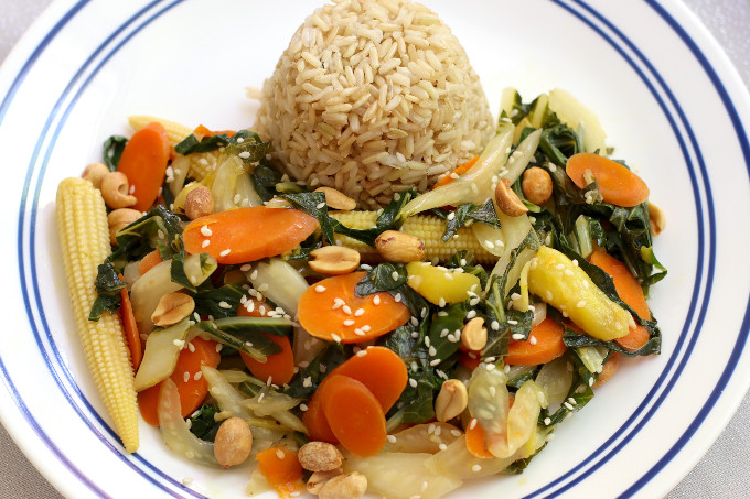 bok choy and carrot stir fry