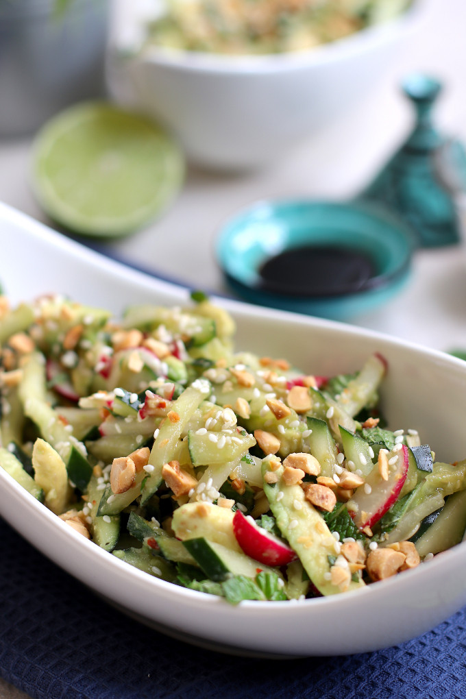 asian cucumber salad with sesame oil