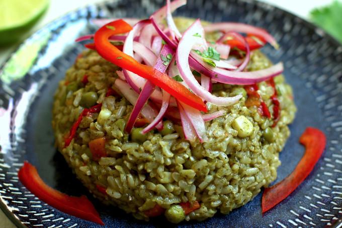 peruvian green rice