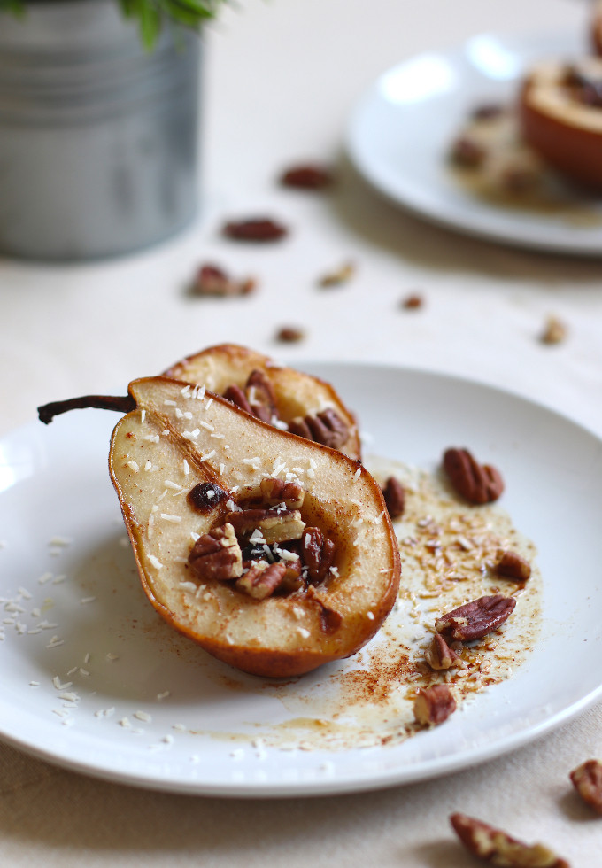 easy baked pears