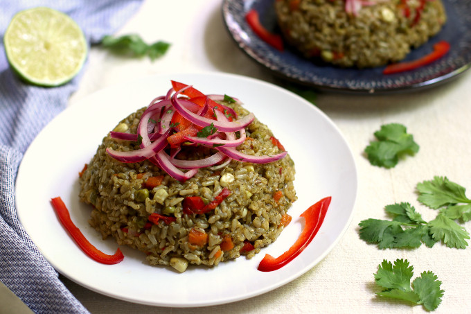 vegan green rice