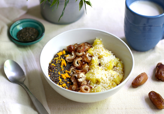 healthy chocolate oatmeal