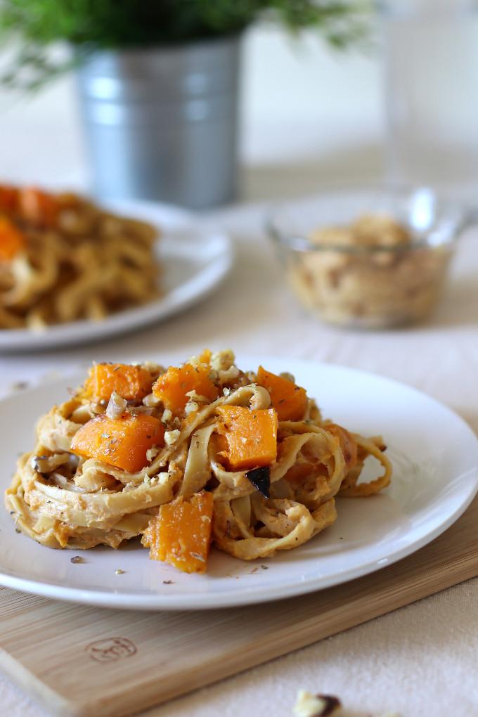 roasted butternut squash pasta