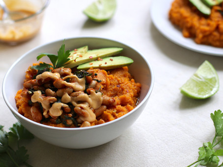 Mashed Sweet Potato Bowl