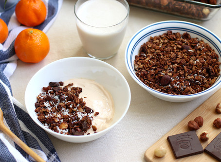 Healthy Chocolate Hazelnut Granola