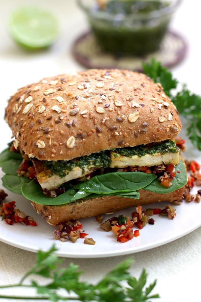 crispy tofu sandwich