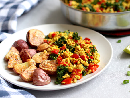 Tofu Scramble with Kale & Roasted Potatoes