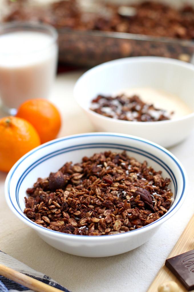 vegan chocolate granola recipe