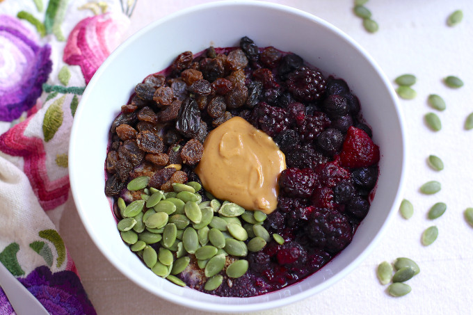 triple berry oatmeal