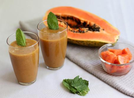 Papaya Mint & Ginger Smoothie