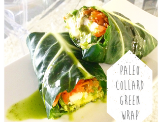 Chicken Collard Green Wrap with Spicy Chimichurri Sauce